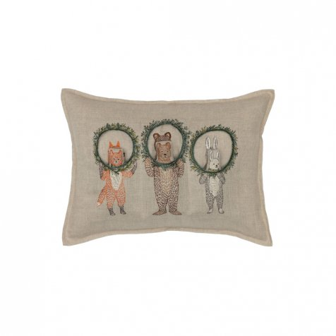 Christmas Wreath Trio Pocket Pillow (Cover Only)