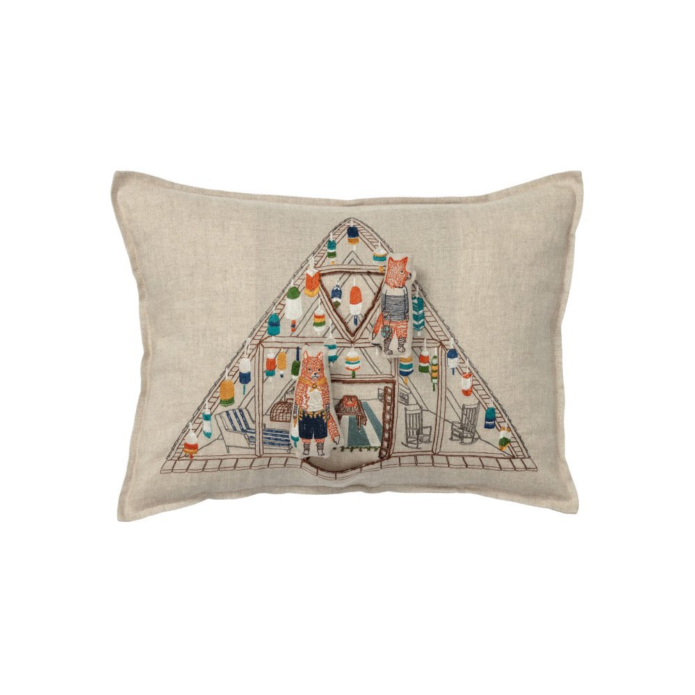 Fox Beach Shack Pocket Pillow (Cover Only) img1