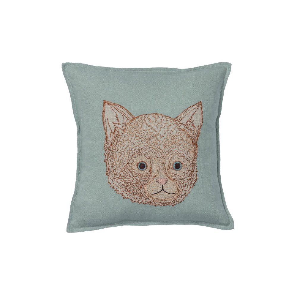 Kitten Applique Pillow (Cover Only) img