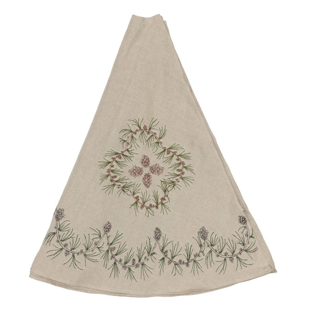 Pinecone Tree Skirt img1