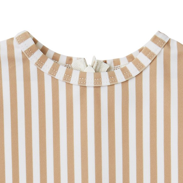 striped shorty onepiece almond img2