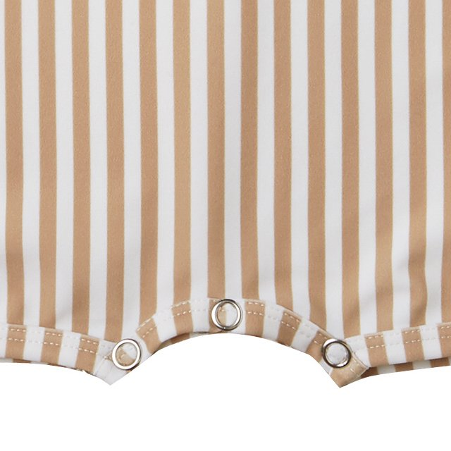 striped shorty onepiece almond img3