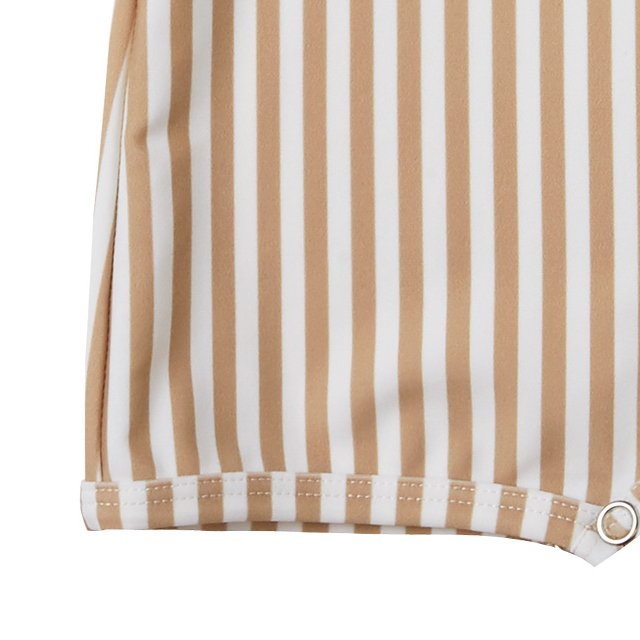 striped shorty onepiece almond img4