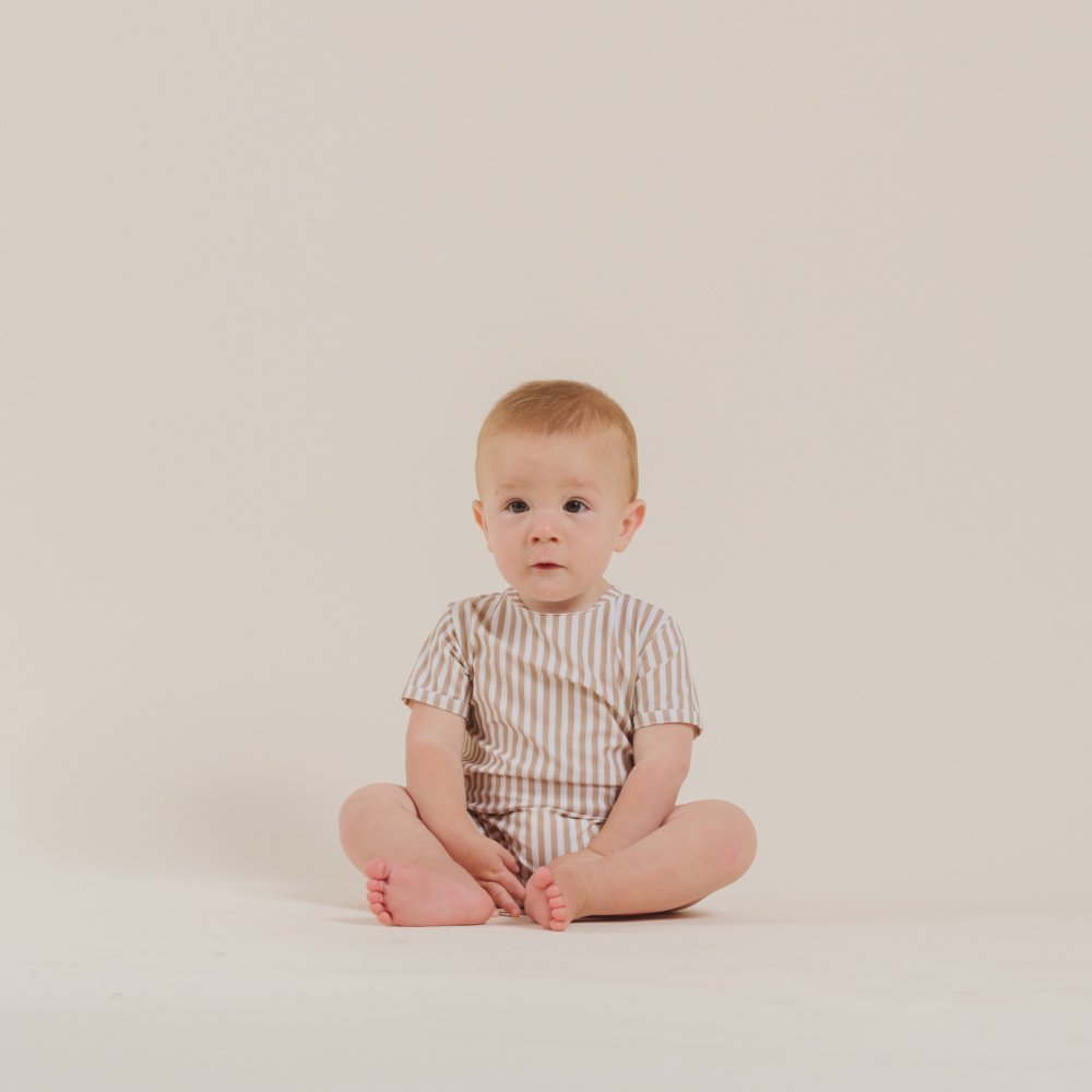 striped shorty onepiece almond img8