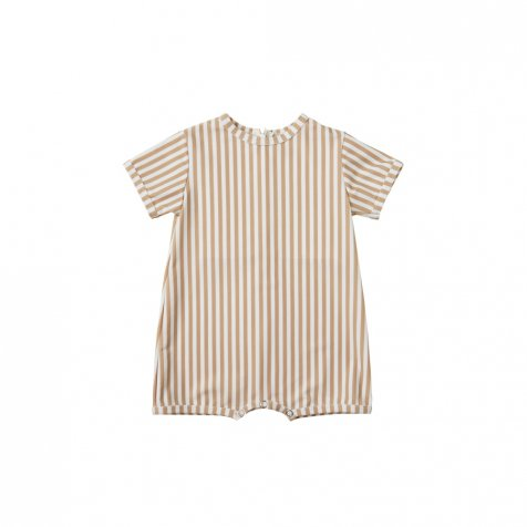 striped shorty onepiece almond