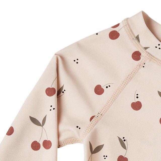 cherries rashguard girl set shell img1