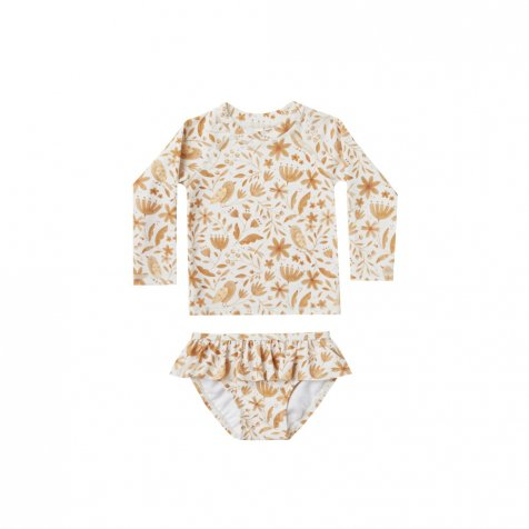 garden birds rashguard girl set ivory