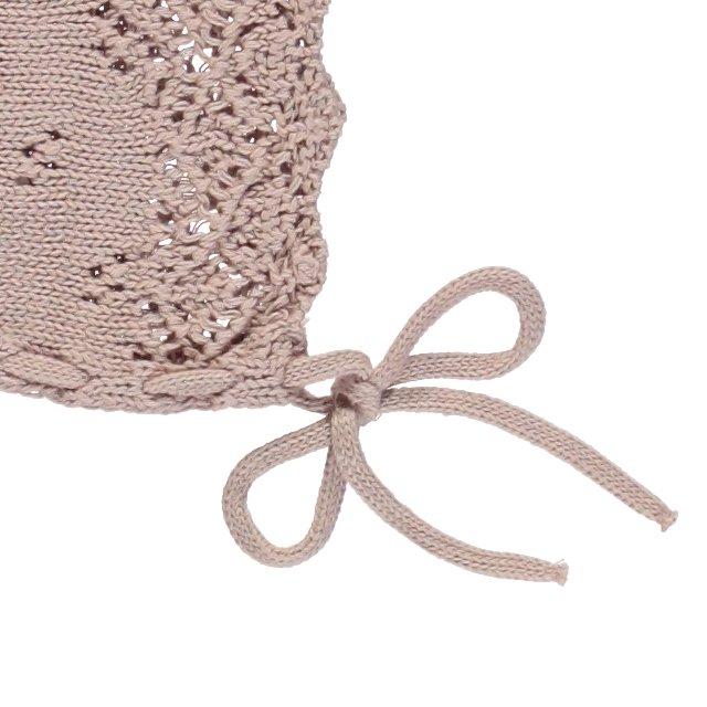 Summer Baby Bonnet Dusty Rose img3