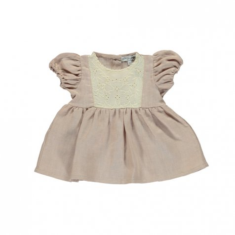Amelia Baby Dress Dusty Rose