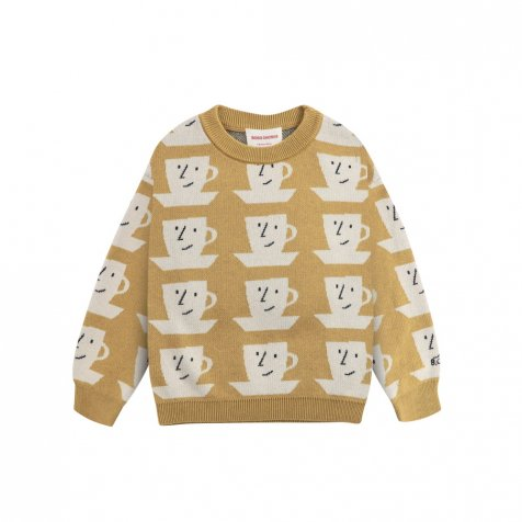 Cup Of Tea All Over knitted jumper