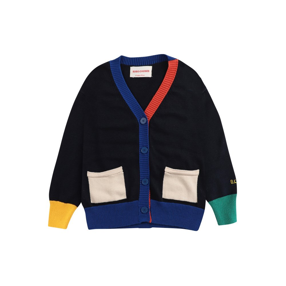 Multicolor knitted cardigan img