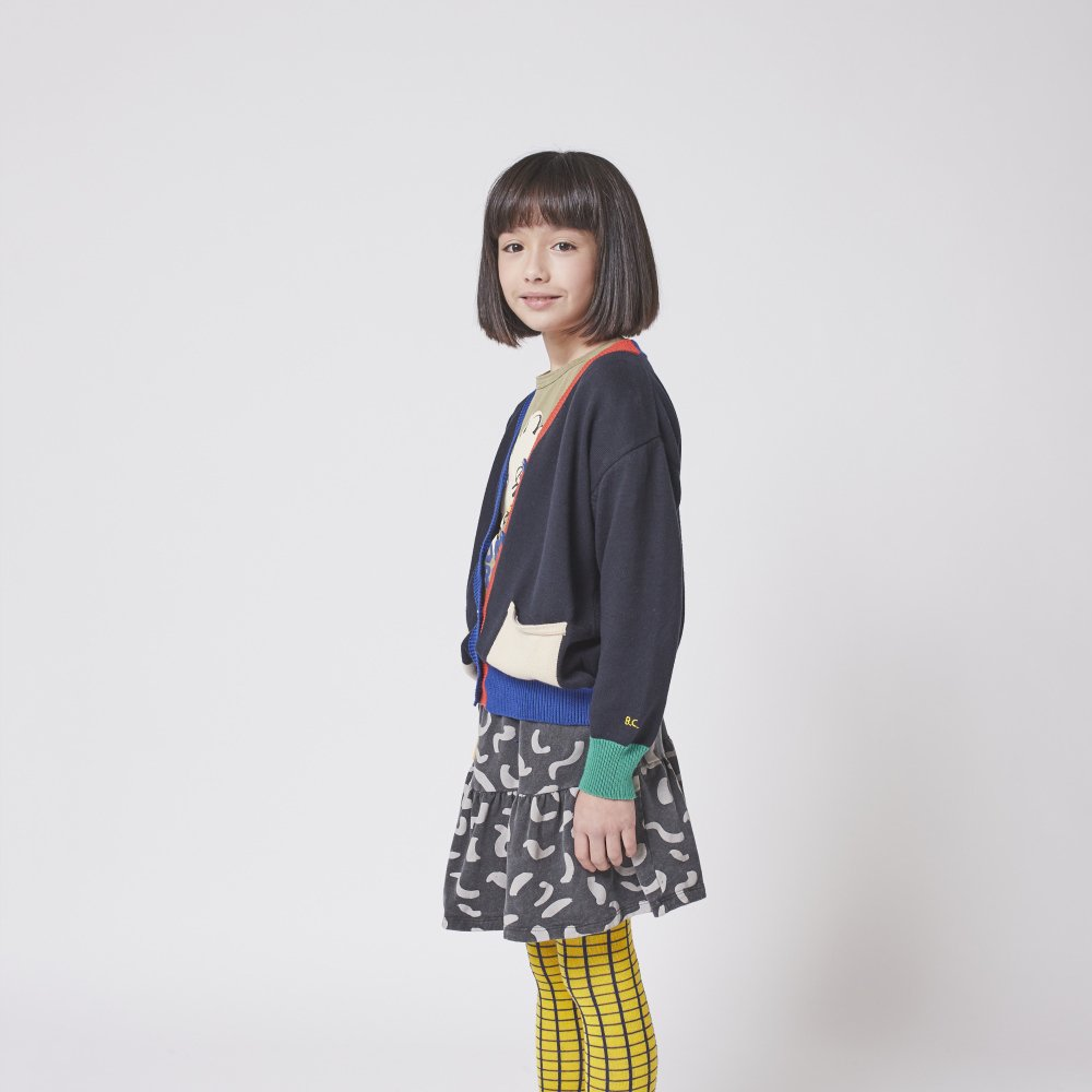 Multicolor knitted cardigan img5