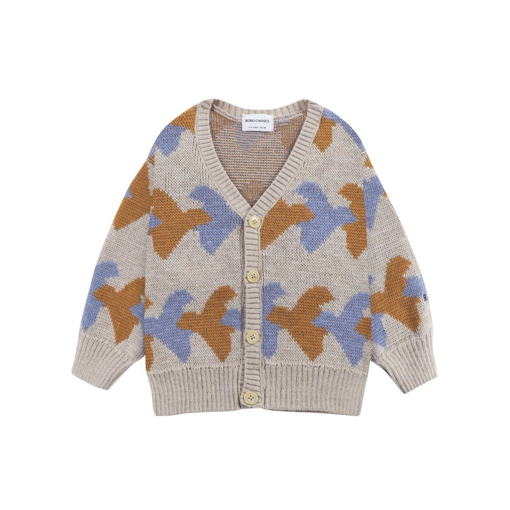 Birds All Over knitted cardigan img
