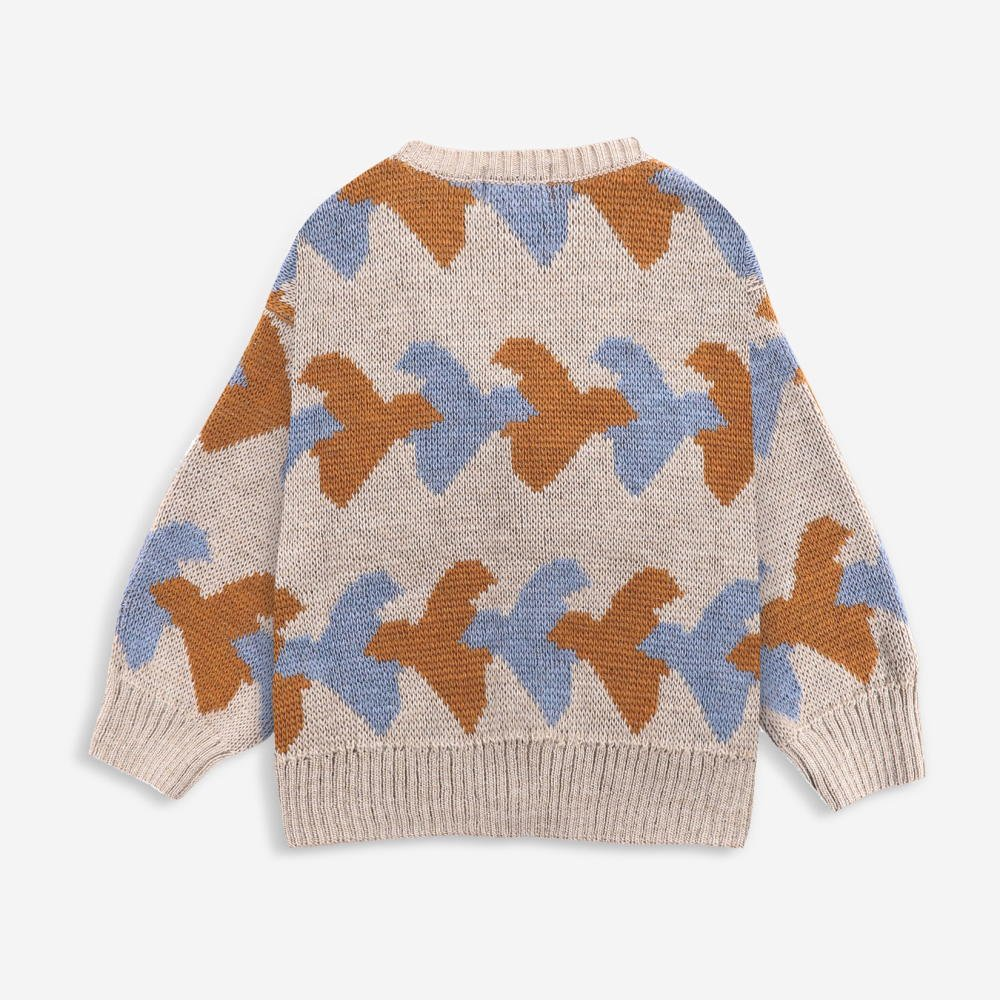 Birds All Over knitted cardigan img1