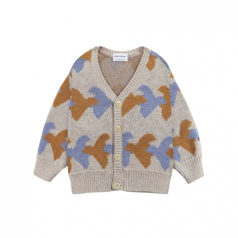 Birds All Over knitted cardigan