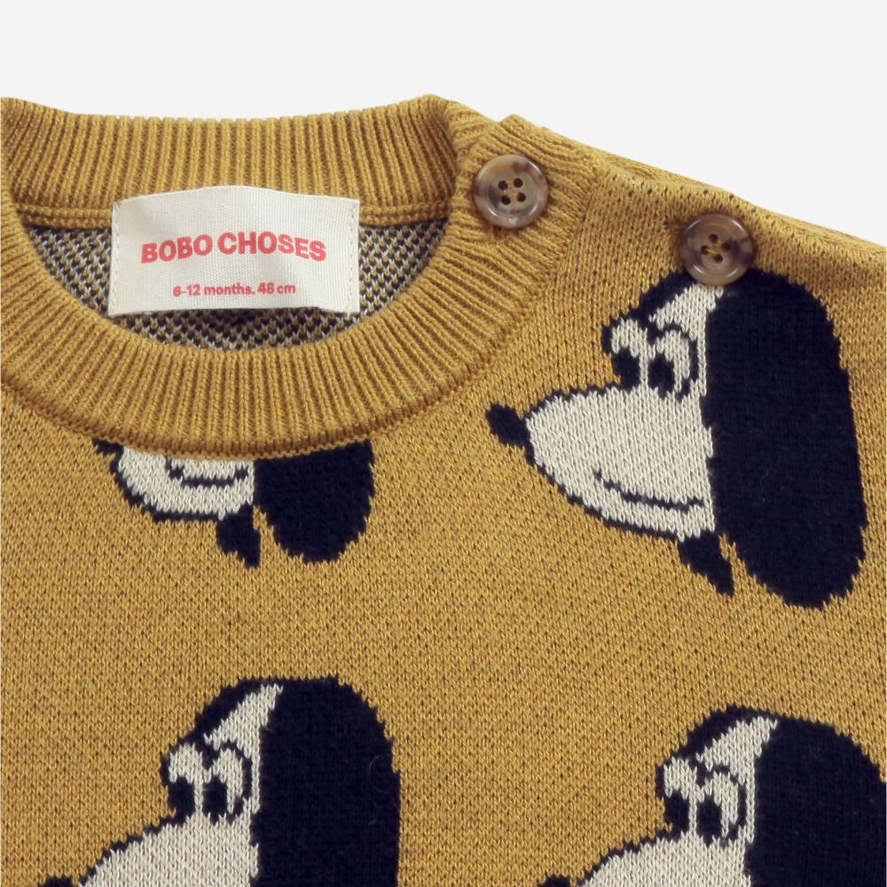 Doggie All Over knitted jumper img2