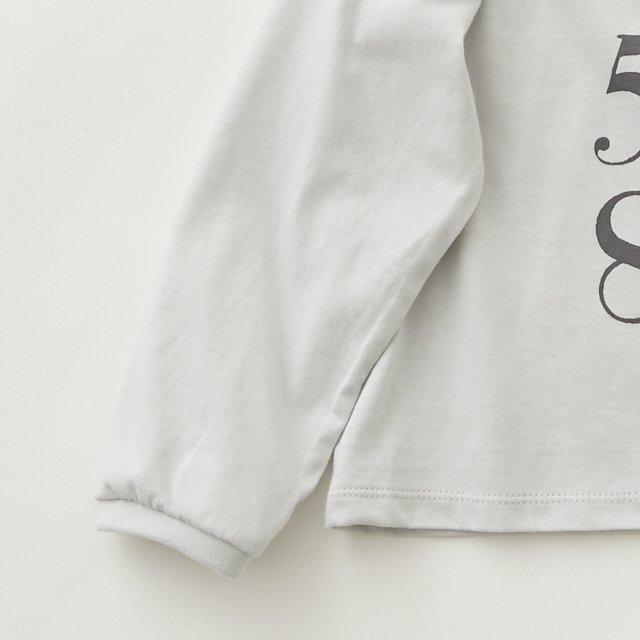 Numbering pixie Long sleeve Tee ash white img2