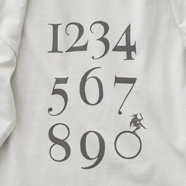 Numbering pixie Long sleeve Tee ash white img3