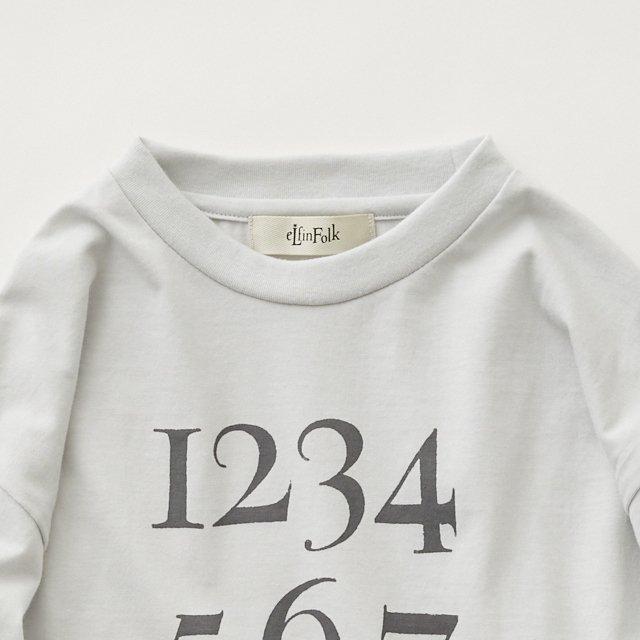 Numbering pixie Long sleeve Tee ash white img4
