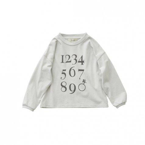 【7/21正午販売開始】Numbering pixie Long sleeve Tee ash white