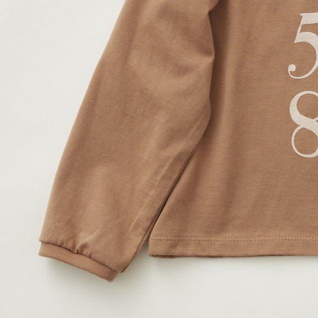 Numbering pixie Long sleeve Tee milky brown img2