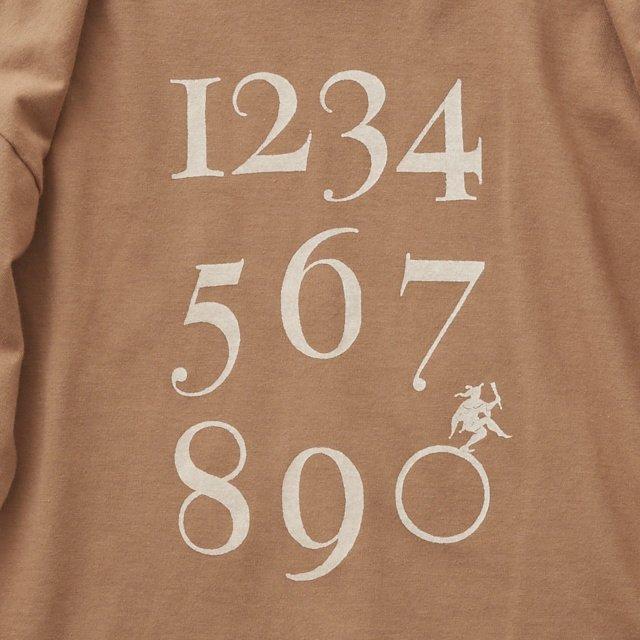 Numbering pixie Long sleeve Tee milky brown img3