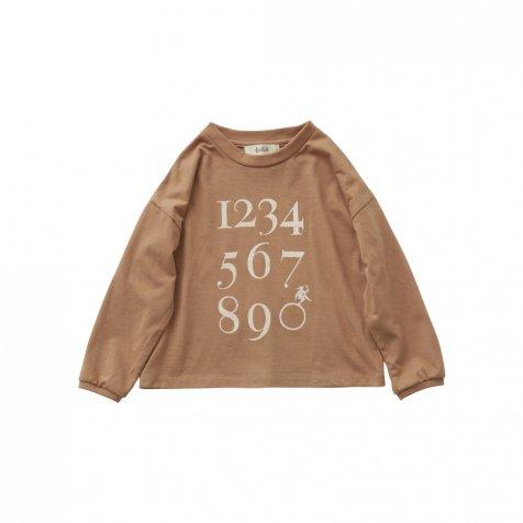 【7/21正午販売開始】Numbering pixie Long sleeve Tee milky brown