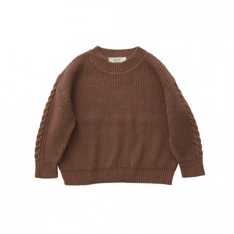 Rib stitch sweater cocoa brown