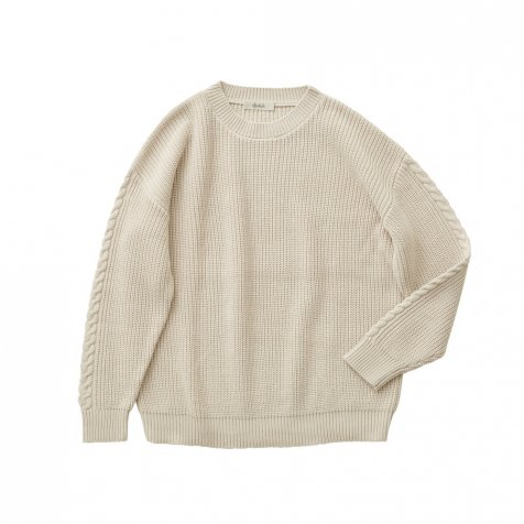 Rib stitch sweater ivory -adult-