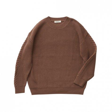 Rib stitch sweater cocoa brown -adult-