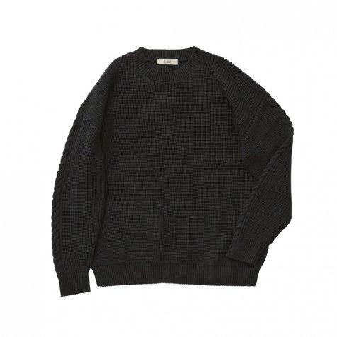 Rib stitch sweater black -adult-