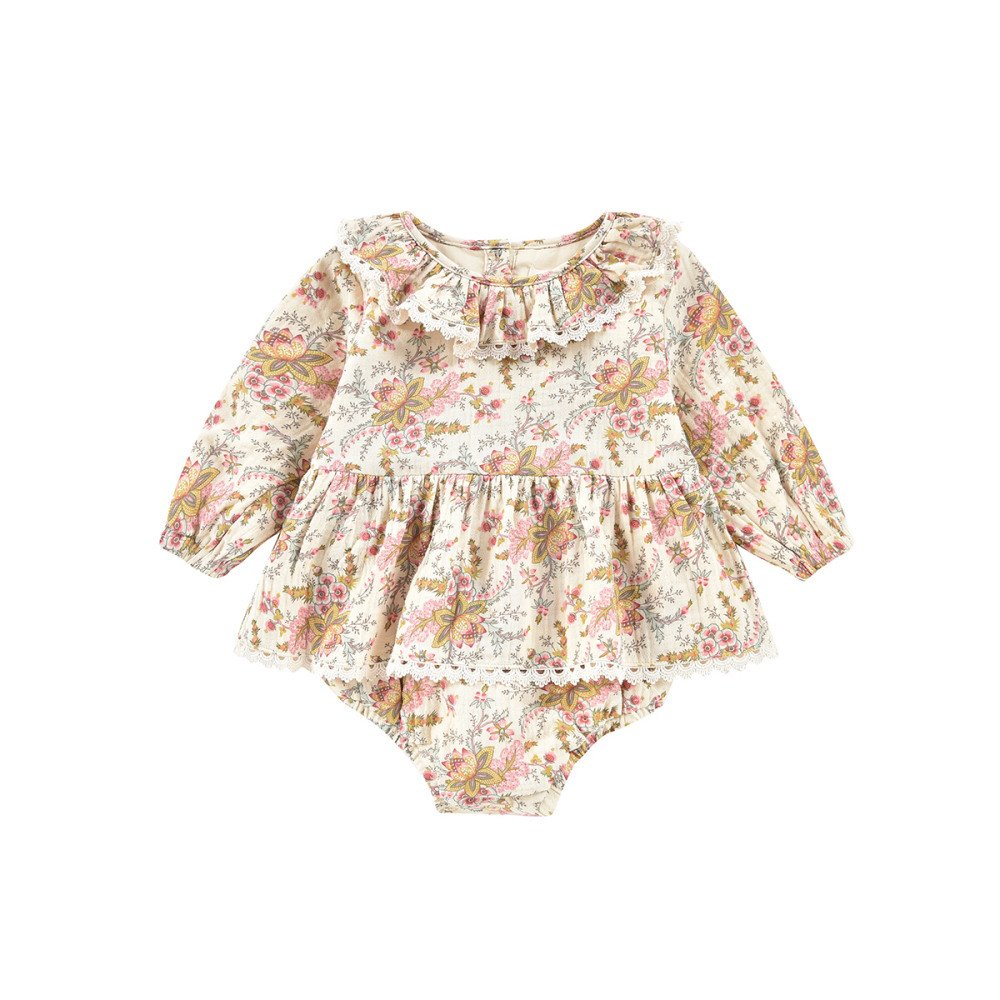 Rompers Ghilena Cream French Flowers img