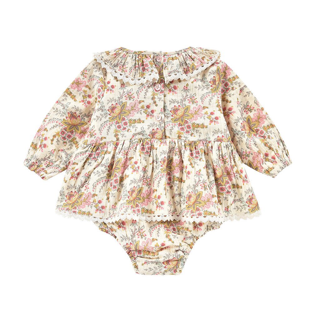 Rompers Ghilena Cream French Flowers img1