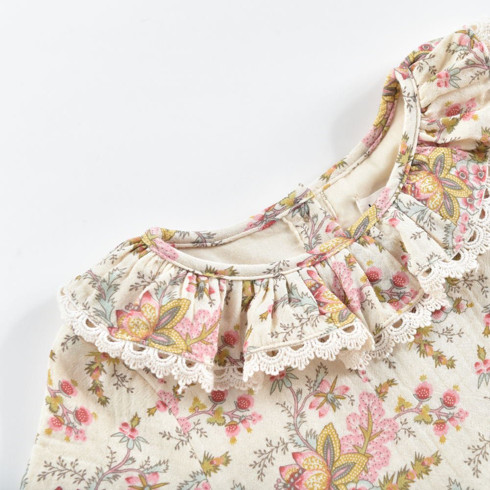 Rompers Ghilena Cream French Flowers img2