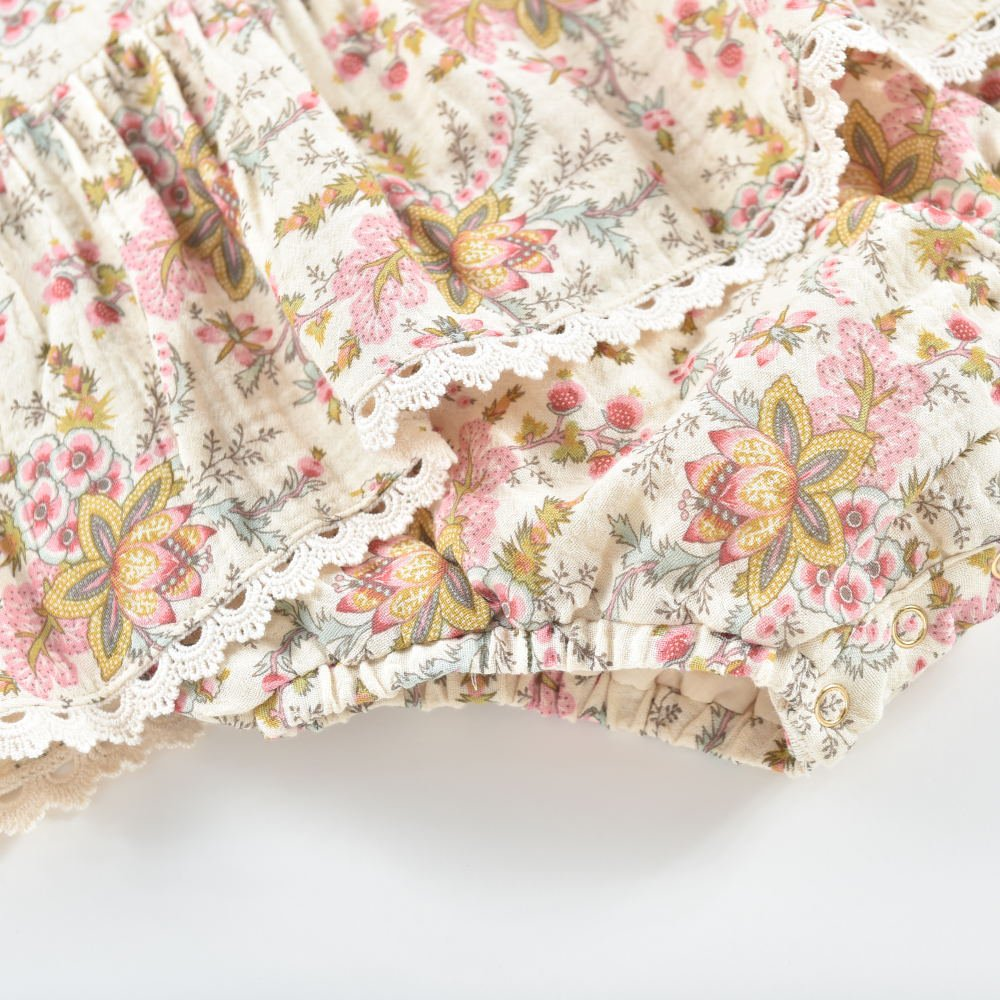Rompers Ghilena Cream French Flowers img3