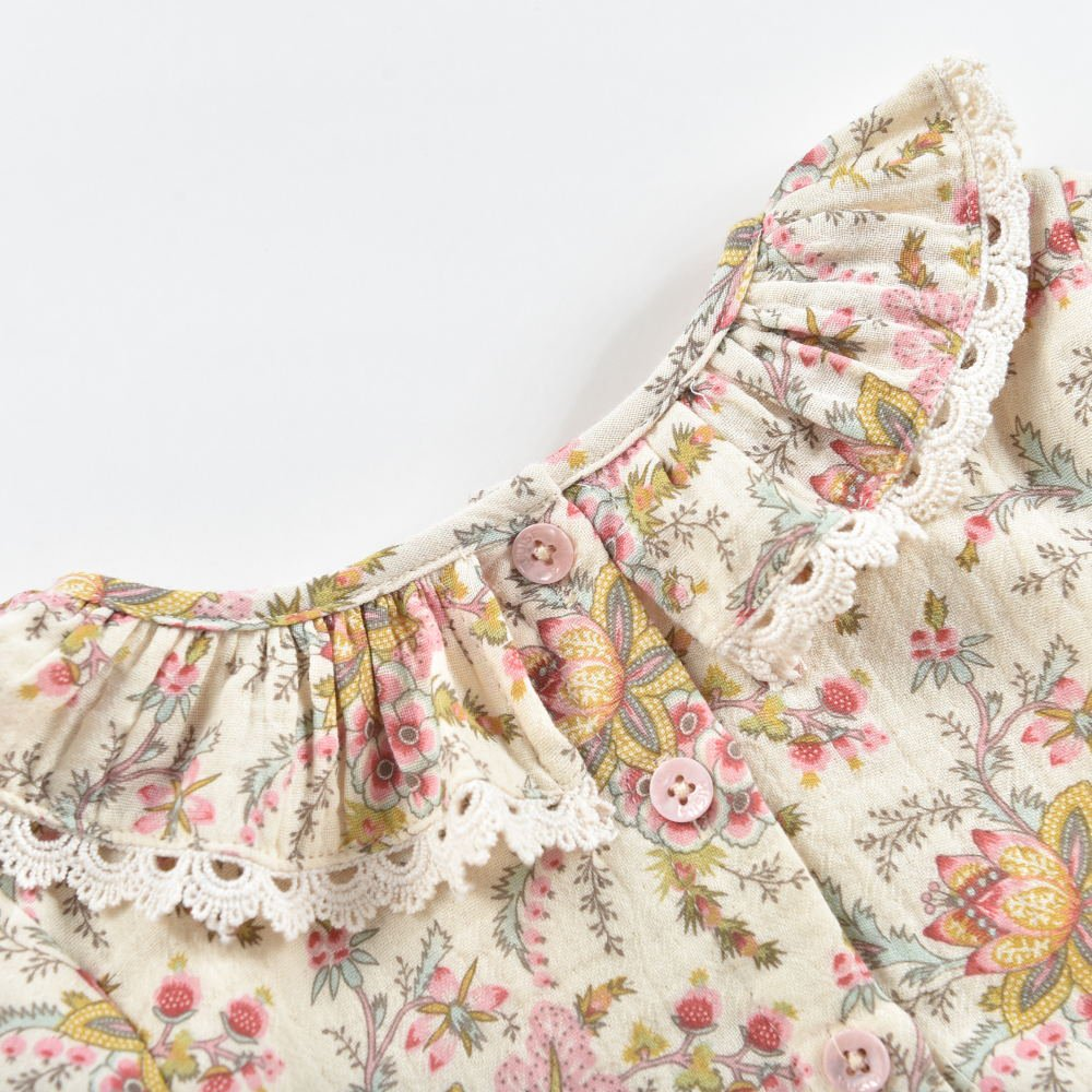 Rompers Ghilena Cream French Flowers img4