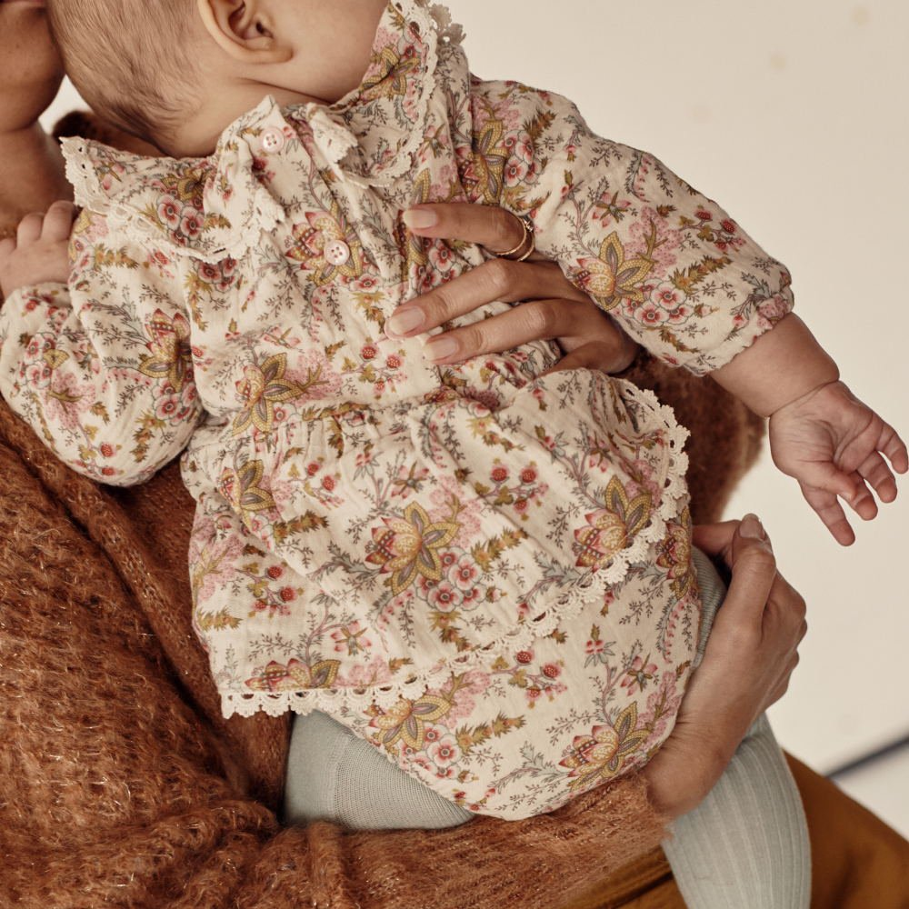 Rompers Ghilena Cream French Flowers img8