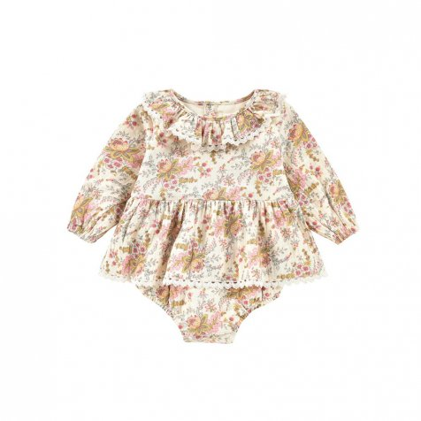 Rompers Ghilena Cream French Flowers