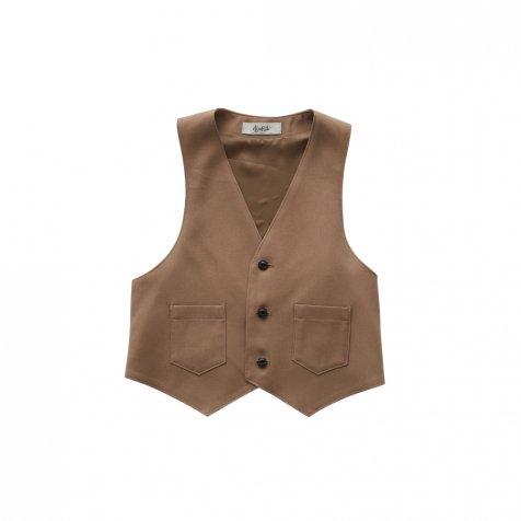 【ご予約受付・お届けは1月〜2月】Ceremony vest camel