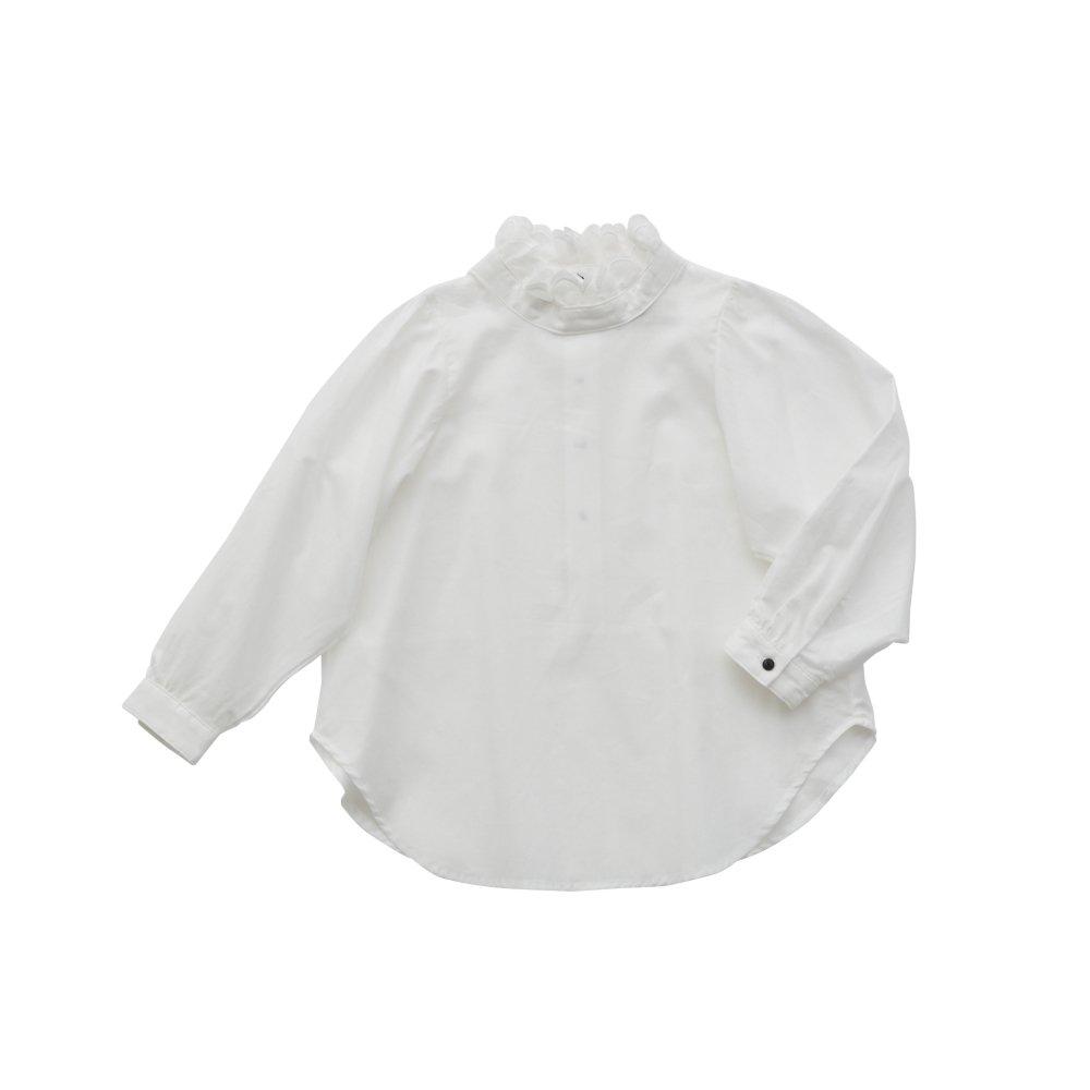 【ご予約受付・お届けは1月〜2月】Ruffled collar blouse white img