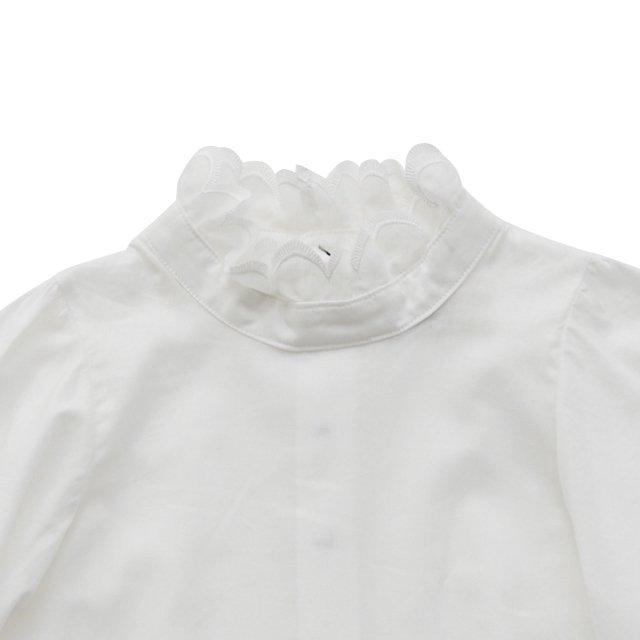 【ご予約受付・お届けは1月〜2月】Ruffled collar blouse white img1