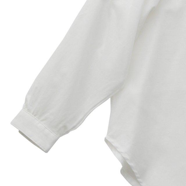 【ご予約受付・お届けは1月〜2月】Ruffled collar blouse white img3
