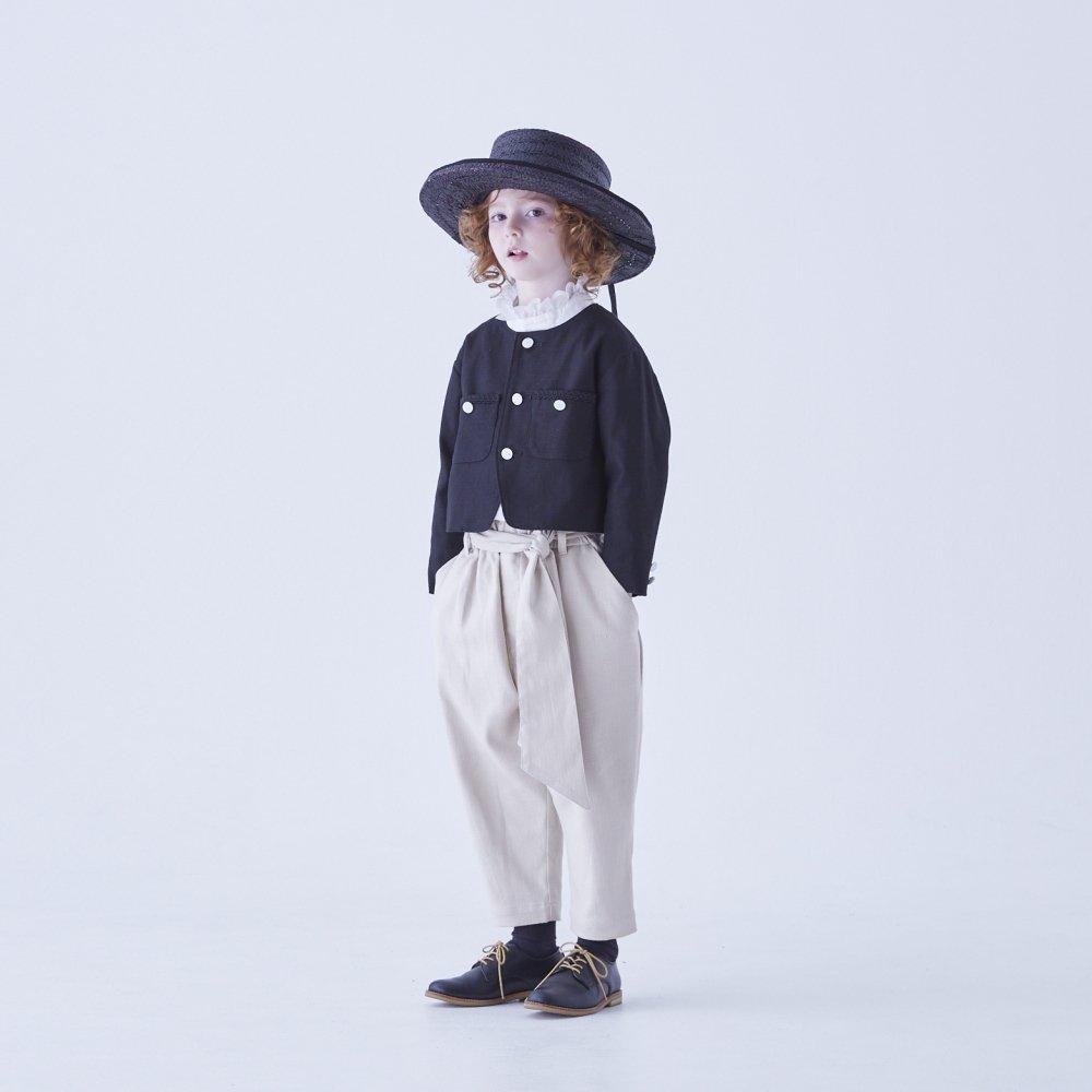 【ご予約受付・お届けは1月〜2月】Ruffled collar blouse white img8
