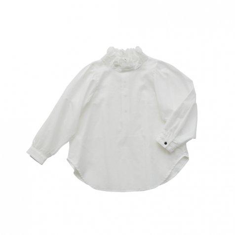 【ご予約受付・お届けは1月〜2月】Ruffled collar blouse white