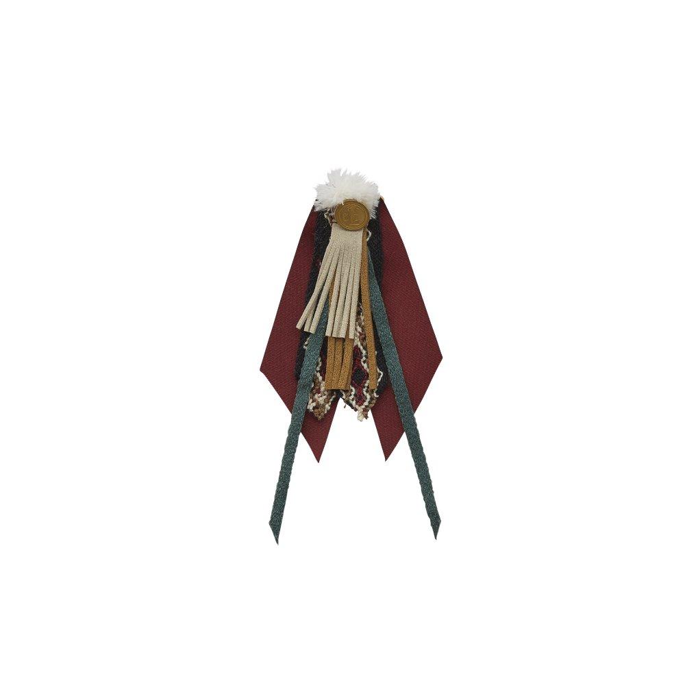 【ご予約受付・お届けは1月〜2月】Cicada brooch burgundy img