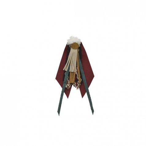 【ご予約受付・お届けは1月〜2月】Cicada brooch burgundy