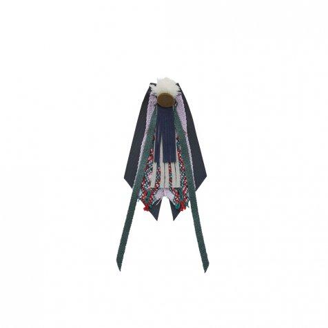 【ご予約受付・お届けは1月〜2月】Cicada brooch dark green