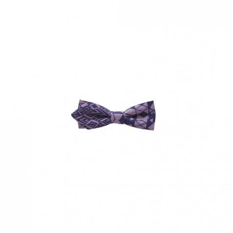 【ご予約受付・お届けは1月〜2月】Folk art print bow tie purple
