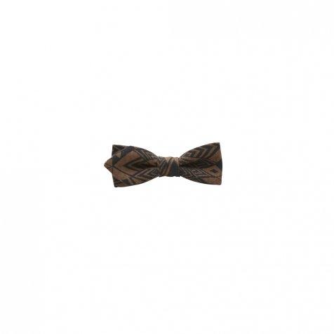 【ご予約受付・お届けは1月〜2月】Folk art print bow tie brown