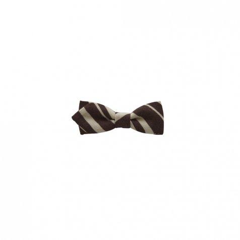 【ご予約受付・お届けは1月〜2月】Angeld stripe bow tie brown